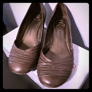 Report Footwear Brown Wedges